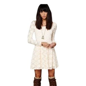 Free People lace skater dress.